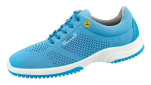 ESD Blue Knitted textile pattern uppers safety Trainer 31773