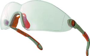 Clear Ergonomic safety glasses. Poly carbonate lens Box 10