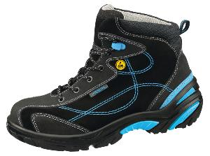 34651 ESD Safety trainers boots black/blue velours uppers acc wave insole