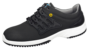 31761 ESD leather SAFETY trainer black honeycomb pattern