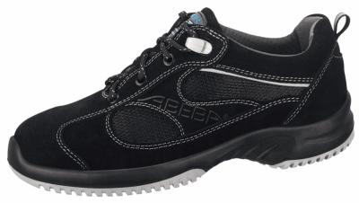 6701 Velours trainer black with acc wave insole