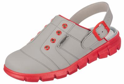 7363 Grey & Red Hospital clogs for theatre use