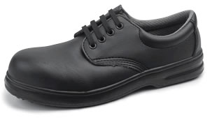 Black Texfibre lace up nursing shoe light weight comfort D203