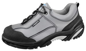 4875 Safety trainer grey/black smooth leather uppers