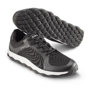 Black Fabric Trainers with Bubble base for extra comfort