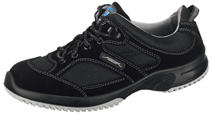 6721 Black velours trainer breathable inlays