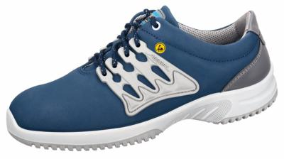 36763 ESD Functional leather trainer navy blue shoe