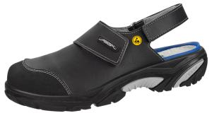 ESD Black Leather Safety Clogs with removable insole 34556