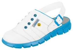 White and Blue ESD Clogs