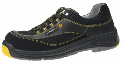 1272 ESD Safety trainer black velours / leather uppers