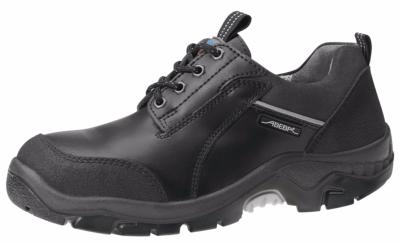 2156 Safety shoe black smooth leather uppers acc wave insole