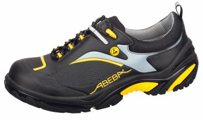 34803 ESD Safety trainer black/yellow S3 microfibre uppers