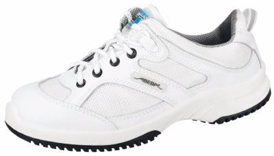 6720 white leather lace up trainer