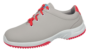 6783 Microfibre lace up shoe grey/red