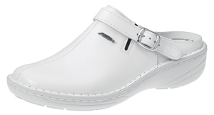 6803 XXL Width white smooth leather adjustable heel strap