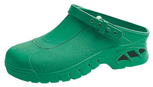 9620 Green Washable & Autoclavable thermo plastic nursing clogs