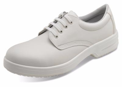 White Micro-tech lace up nursing shoes light weight comfort D201