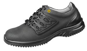 Black Functional leather honeycomb pattern safety Trainer 31765