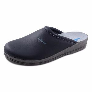 Navy Blue Leather Clogs Anti-Static with Padded Instep 00-12