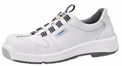 1361 Safety lace up shoe white smooth leather uppers