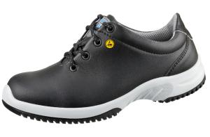 Black ESD Microfibre Lace up SAFETY Shoes SRC Anti Slip 31781