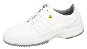 31760 ESD leather saftey trainer white leather honeycomb pattern