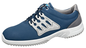 6763 Functional leather trainer navy honeycomb pattern