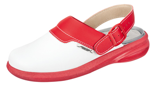 7623 white/red leather upper