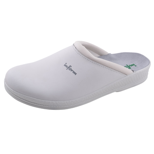 White Leather Clogs Anti-Static Padded Instep leather Insole 00-11