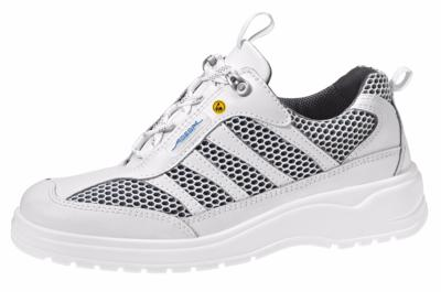 31058 ESD safety trainer white & grey textile breathable inlays