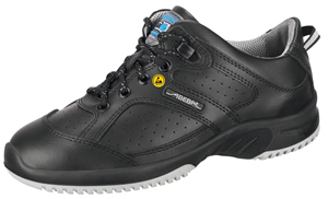 31731 leather SAFETY trainer black ESD
