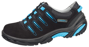 4581 Safety trainer black/blue velours uppers acc wave insole