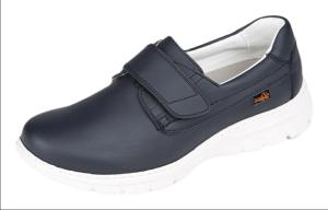 Navy Microfibre Washable Nursing Shoe with Fastening Strap (FLORENCIA)