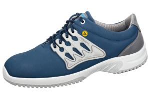 ESD Navy Functional leather honeycomb pattern Trainer 36763