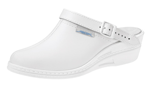 7002 Ladies high clog white (NARROW FIT)