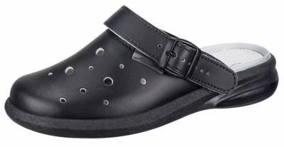 7631 Black leather perforated upper