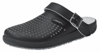9310 Black Unisex nursing clogs with perforations