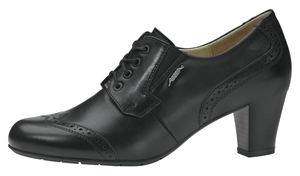 Black ESD Smooth Leather Ladies Brogue Lace up Shoes 3980