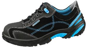 4621 Safety trainers black/blue velours uppers acc wave insole