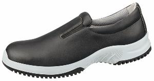 6741 black microfibre slip on shoe removable insole