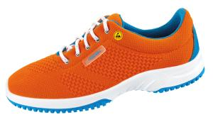Orange ESD Knitted Textile Uppers Work Trainers SRC Slip Baser 36774
