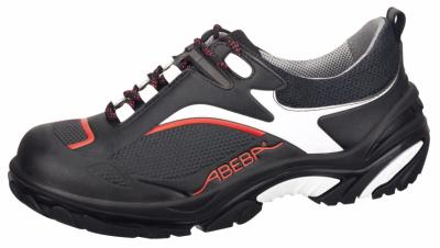 4502 Safety trainer black / red microfibre seamless uppers
