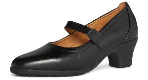 Maryland Ladies Black Leather Slip on Shoe Georgia