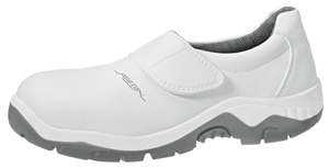 2130 Safety slip on shoe white microfibre uppers