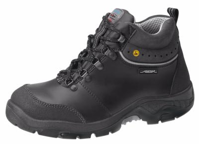 32168 ESD safety boot black smooth leather uppers