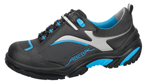 4501 Safety trainer black/blue microfibre seamless uppers