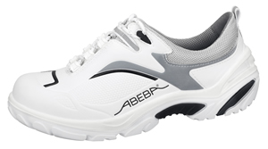 4504 Safety trainer white/black/grey microfibre seamless uppers