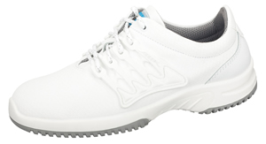 6760 Functional leather trainer white with honeycomb pattern