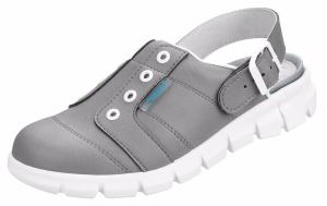 7366 Grey Hospital Clogs with heel strap
