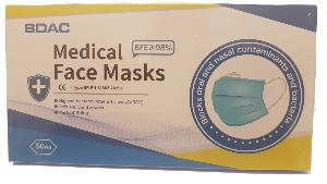 50 Medical Grade Disposable Face Masks Type IIR with ear loops